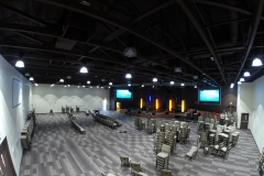 Palm Vista Setting up for first ever service in new building